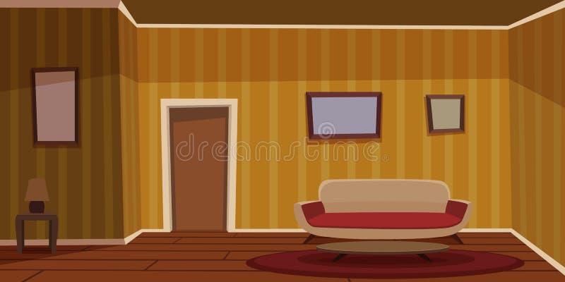 Αναδρομικό καθιστικό - κίτρινο ελεύθερη απεικόνιση δικαιώματος