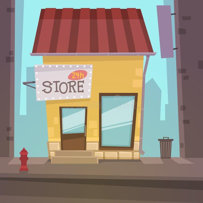 αναδρομικό κατάστημα ελεύθερη απεικόνιση δικαιώματος
