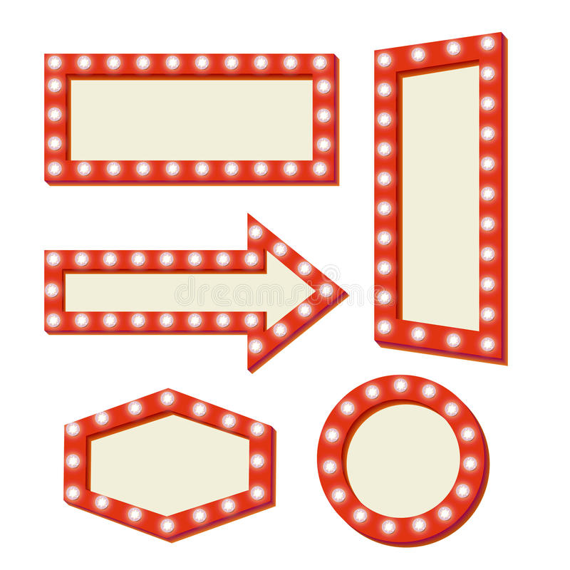 Αναδρομικό κόκκινο πλαίσιο Εκλεκτής ποιότητας σημάδια απεικόνιση αποθεμάτων
