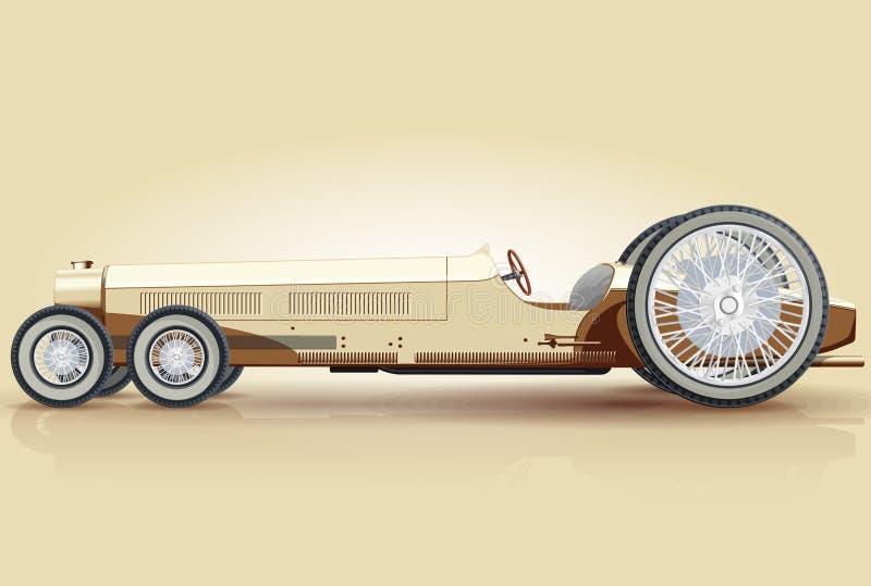 Αναδρομικό μακρύ αυτοκίνητο για τα notables απεικόνιση αποθεμάτων