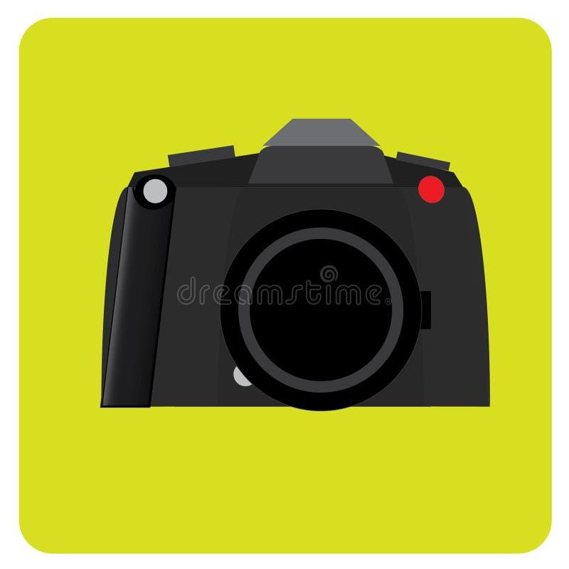 Αναδρομικό μαύρο μέσο σχήμα καμερών ταινιών με το μαύρο κόκκινο σημείο δέρματος στοκ εικόνες με δικαίωμα ελεύθερης χρήσης