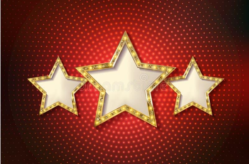 Αναδρομικό πρότυπο αστεριών ελεύθερη απεικόνιση δικαιώματος