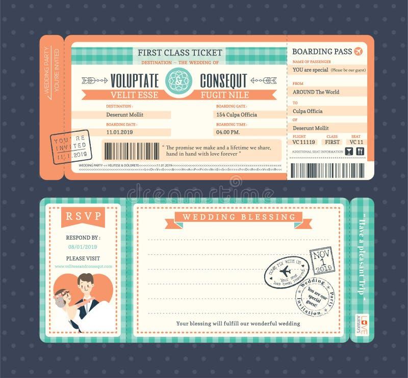 Αναδρομικό πρότυπο γαμήλιας πρόσκλησης περασμάτων τροφής κρητιδογραφιών διανυσματική απεικόνιση
