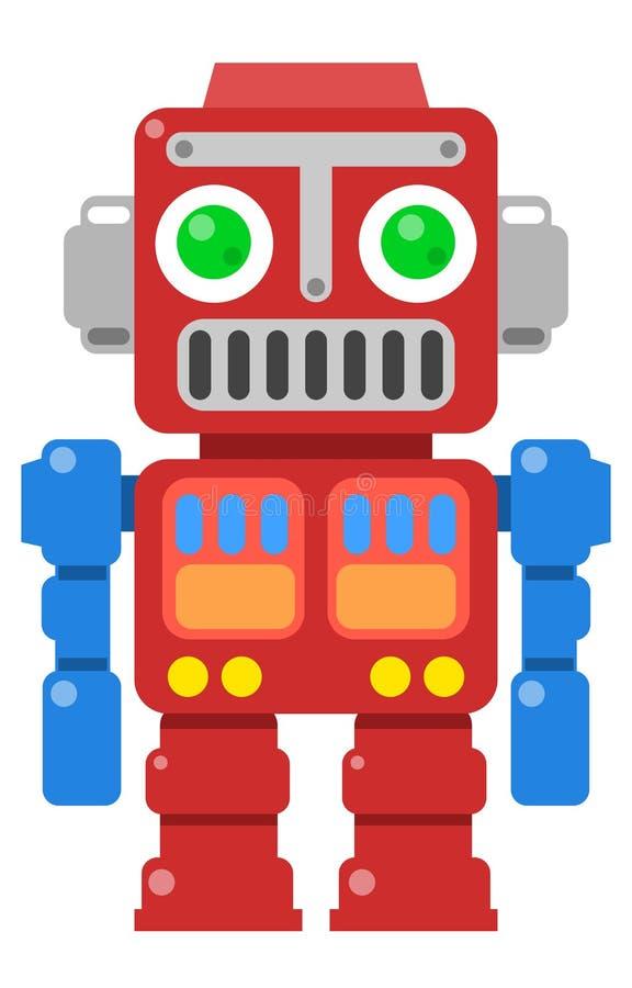 Αναδρομικό ρομπότ 2 διανυσματική απεικόνιση