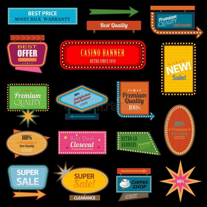 Αναδρομικό σημάδι μοτέλ εμβλημάτων απεικόνιση αποθεμάτων