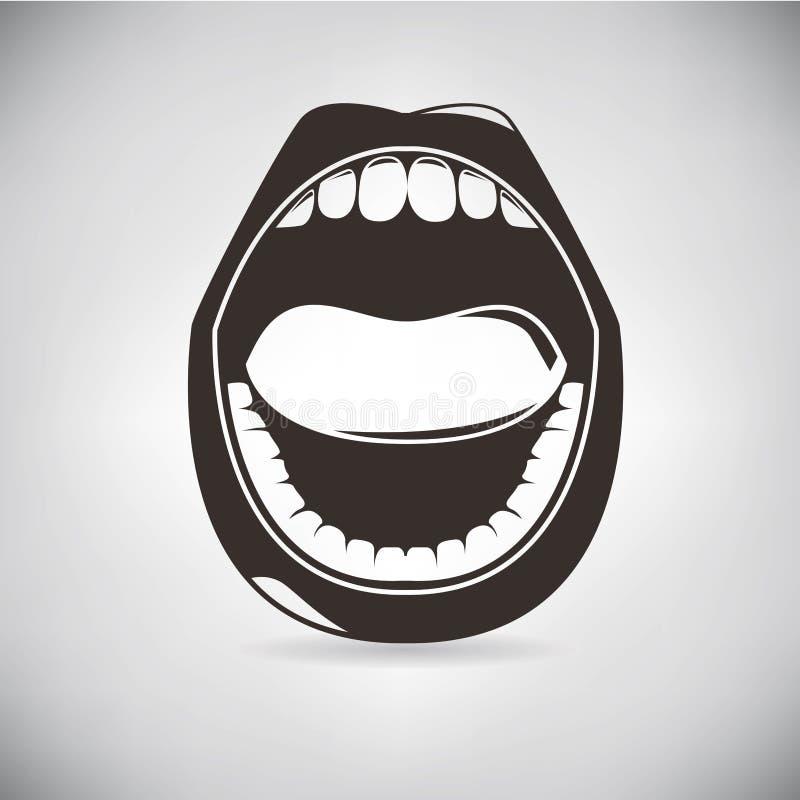 Αναδρομικό στόμα απεικόνιση αποθεμάτων
