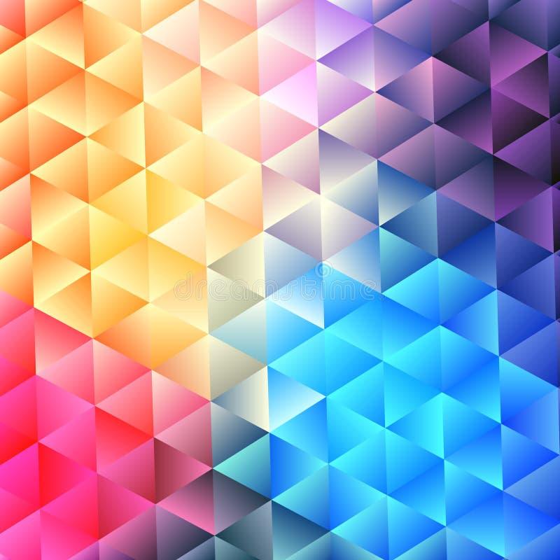 Αναδρομικό σχέδιο των γεωμετρικών μορφών Ζωηρόχρωμο σκηνικό μωσαϊκών geo ελεύθερη απεικόνιση δικαιώματος