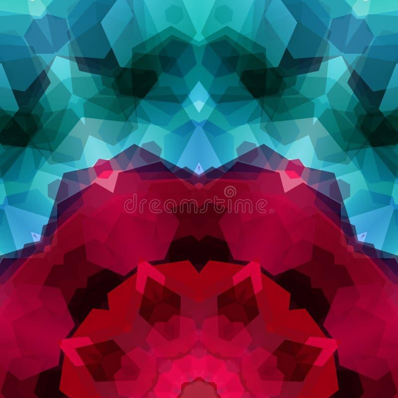 Αναδρομικό σχέδιο φιαγμένο από εξαγωνικές μορφές Πολύτιμος λίθος υποβάθρου μωσαϊκών ομο ελεύθερη απεικόνιση δικαιώματος