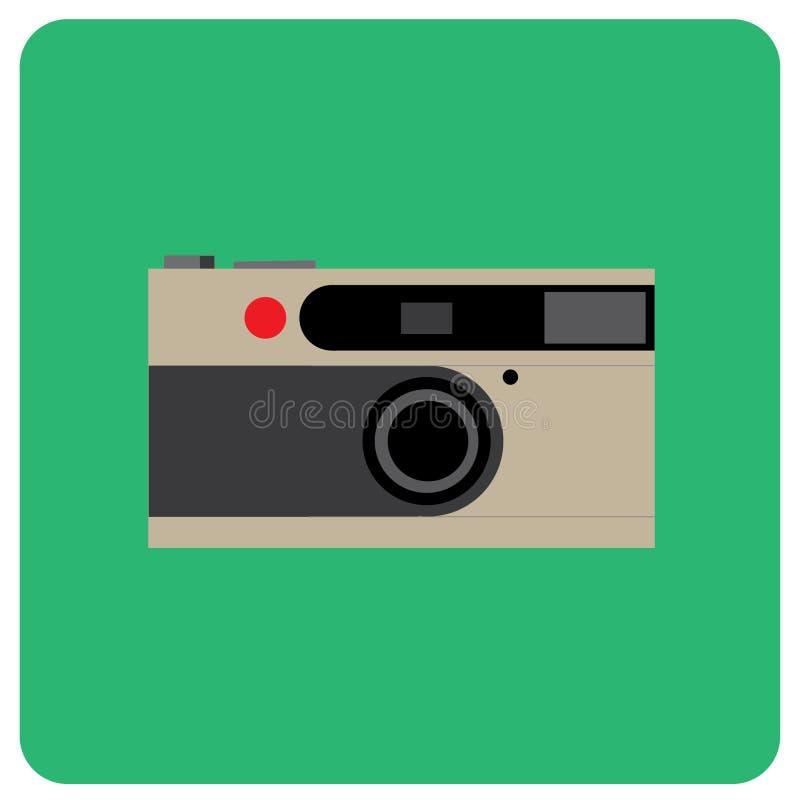 Αναδρομικό ταινιών κόκκινο σημείο σωμάτων καμερών ασημένιο στοκ εικόνα