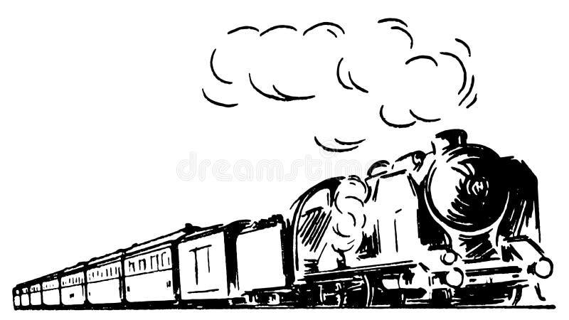 Αναδρομικό τραίνο 01 απεικόνιση αποθεμάτων