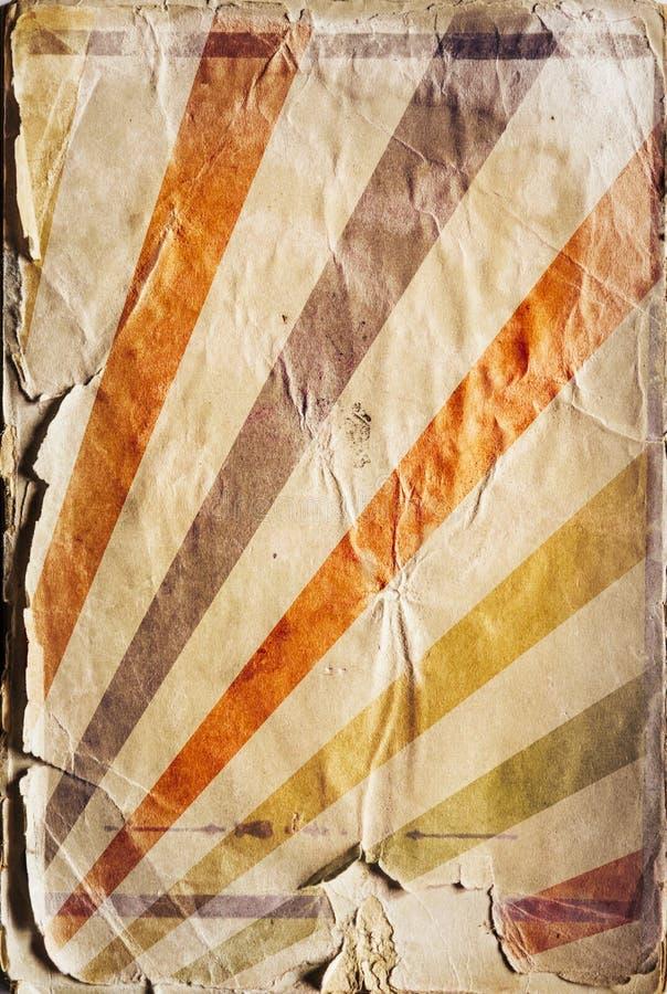 Αναδρομικό υπόβαθρο αφισών ηλιαχτίδων αναγέννησης στο χρώμα στοκ φωτογραφία με δικαίωμα ελεύθερης χρήσης