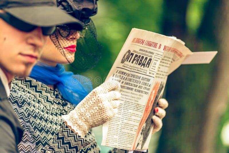 Αναδρομικό φεστιβάλ «ημέρες της ιστορίας» στη Μόσχα στοκ εικόνα με δικαίωμα ελεύθερης χρήσης