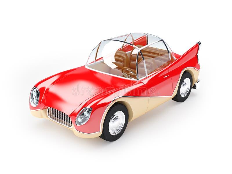 Αναδρομικό φουτουριστικό αυτοκίνητο 1960 διανυσματική απεικόνιση
