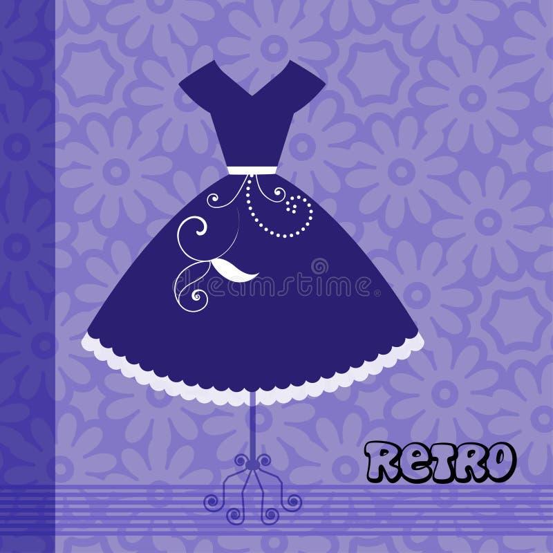 Αναδρομικό φόρεμα Esp10 διανυσματική απεικόνιση