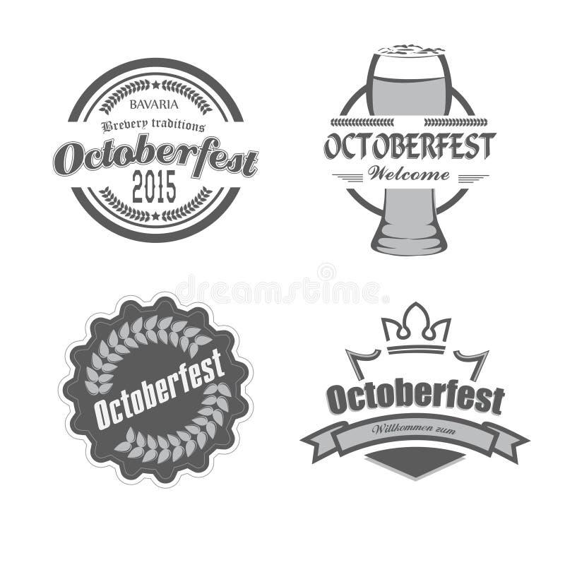 Αναδρομικό ύφος εορτασμών Oktoberfest φεστιβάλ μπύρας απεικόνιση αποθεμάτων