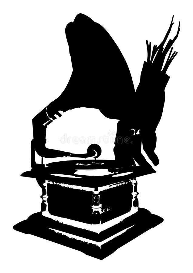 Αναδρομικό gramofon στοκ εικόνες