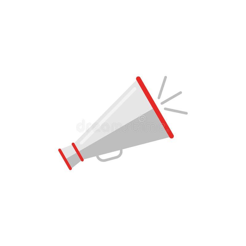 Αναδρομικό megaphone εικονίδιο στο επίπεδο ύφος Σύνολο εικονιδίων κινηματογράφων διανυσματική απεικόνιση