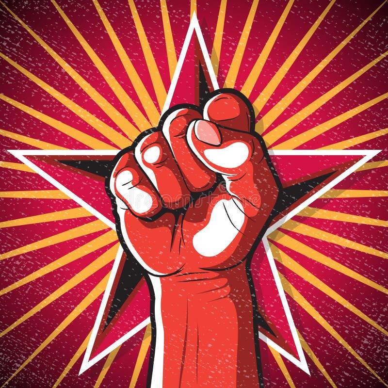 Αναδρομικό Punching σημάδι πυγμών ελεύθερη απεικόνιση δικαιώματος