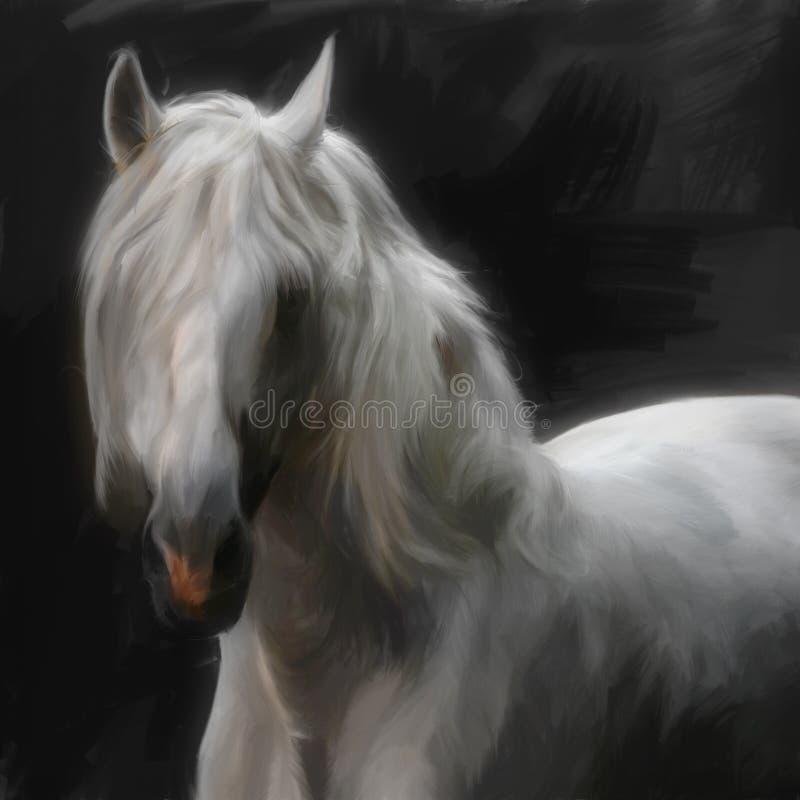 ανδαλουσιακό άλογο απεικόνιση αποθεμάτων