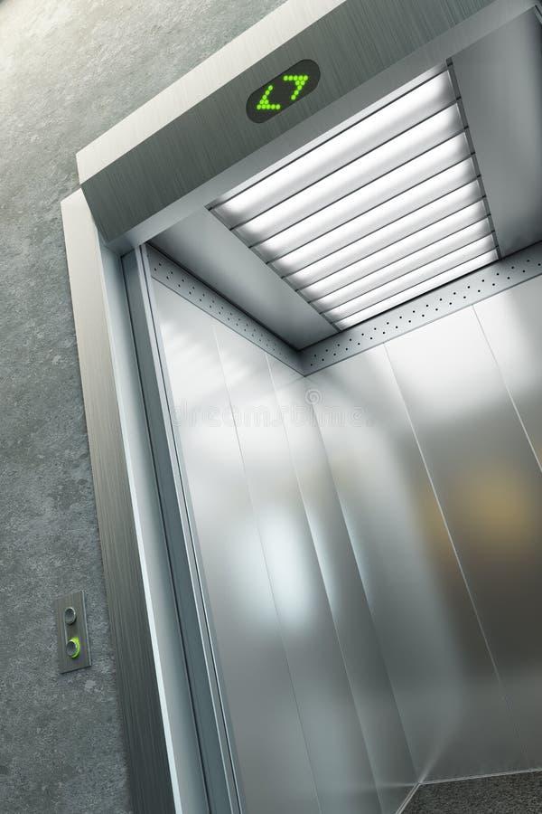 ανελκυστήρας σύγχρονο&sigm απεικόνιση αποθεμάτων