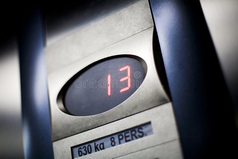 ανελκυστήρας 13 στοκ εικόνα