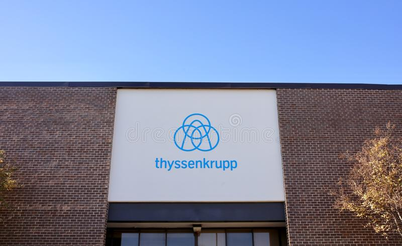 Ανελκυστήρες Krupp Thyssen, Μέμφιδα, TN στοκ εικόνες