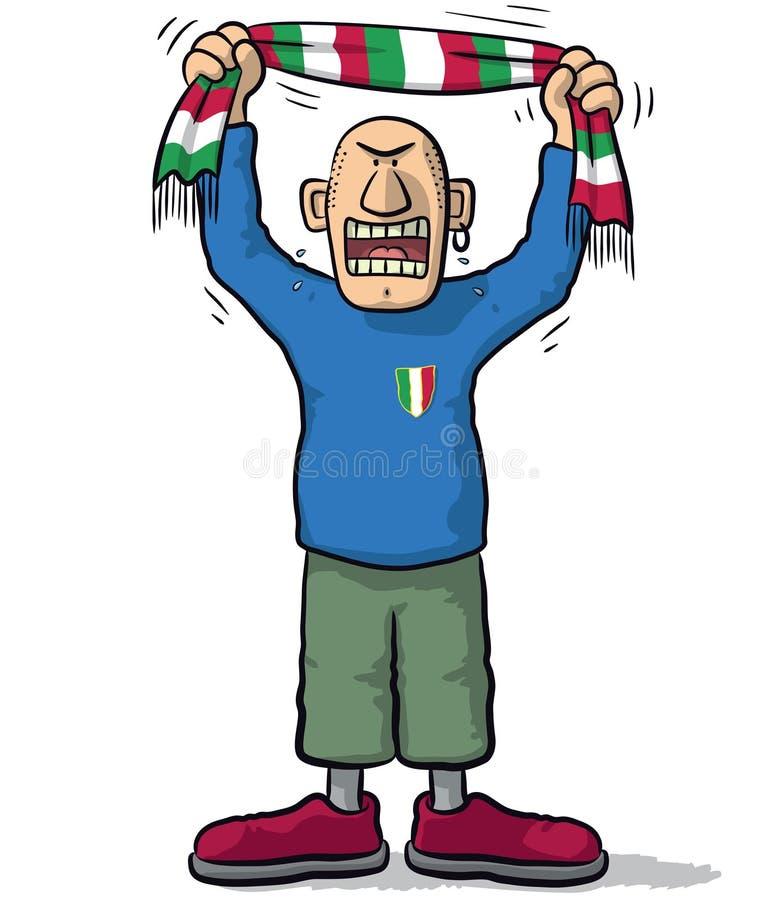 Ανεμιστήρας Ιταλία ποδοσφαίρου απεικόνιση αποθεμάτων