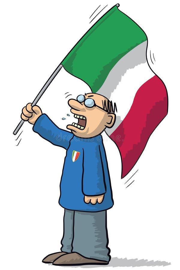 Ανεμιστήρας Ιταλία ποδοσφαίρου διανυσματική απεικόνιση