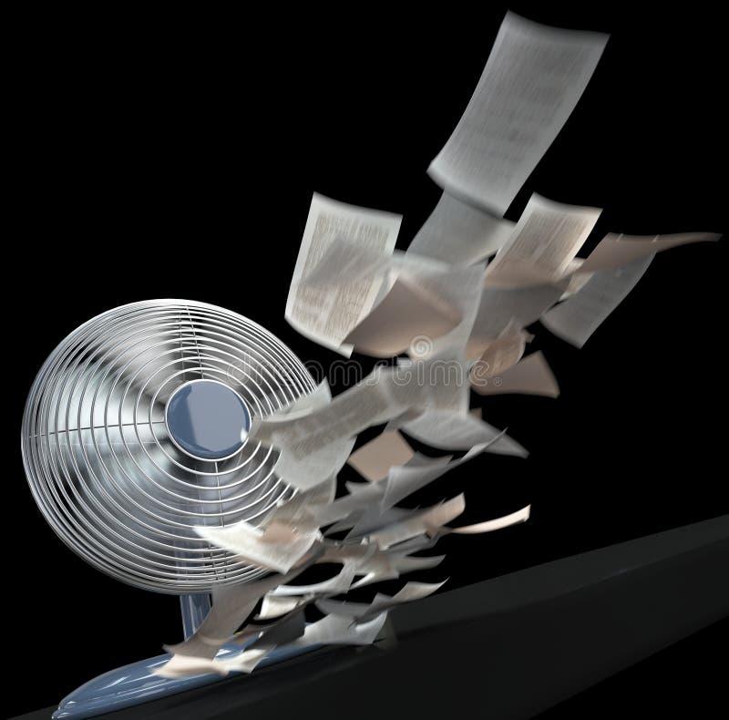 Ανεμιστήρας και άνεμος υπόβαθρο έννοιας εγγράφου στοκ εικόνες