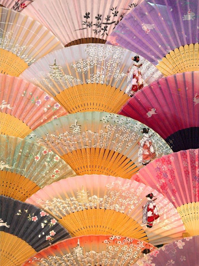 ανεμιστήρες ιαπωνικά στοκ φωτογραφίες