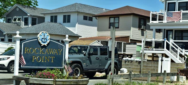 Ανεμοδαρμένη γειτονιά poin σημείου Rockaway oceanfront στοκ φωτογραφίες με δικαίωμα ελεύθερης χρήσης