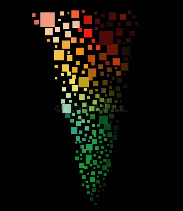 ανεμοστρόβιλος μωσαϊκών &e διανυσματική απεικόνιση