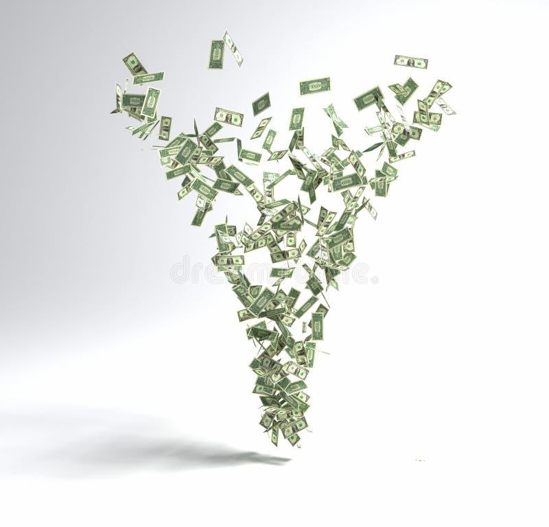 Ανεμοστρόβιλος χρημάτων στοκ εικόνες με δικαίωμα ελεύθερης χρήσης