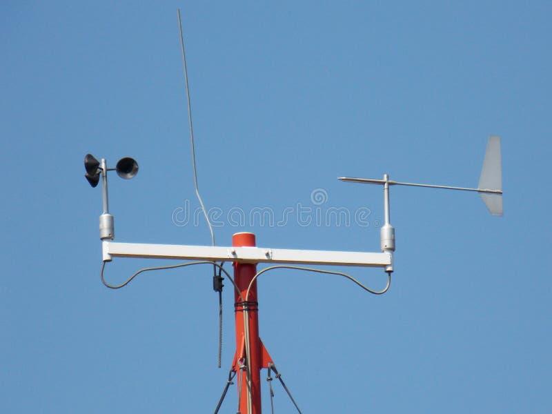 Ανεμόμετρο - συσκευή που χρησιμοποιείται για τη μέτρηση της ταχύτητας του αέρα στοκ εικόνα με δικαίωμα ελεύθερης χρήσης