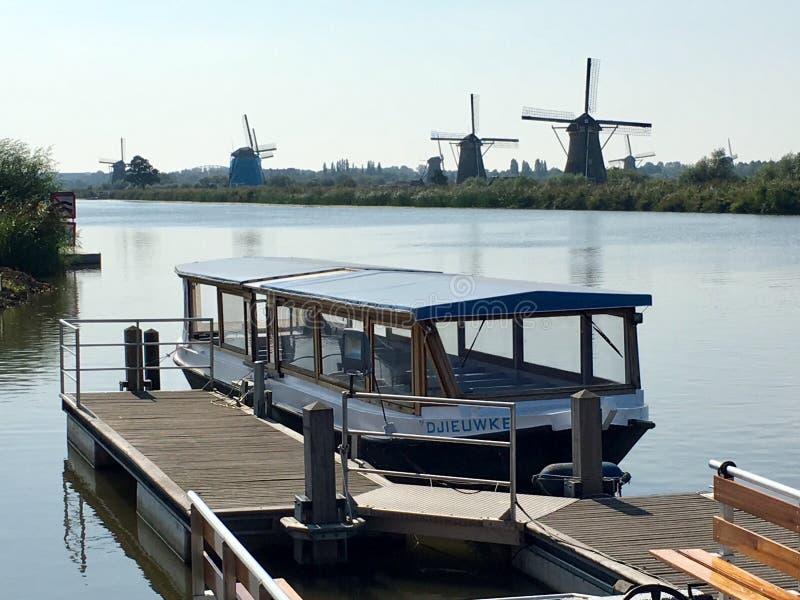 Ανεμόμυλοι  Kinderdijk, Ολλανδία στοκ φωτογραφίες με δικαίωμα ελεύθερης χρήσης