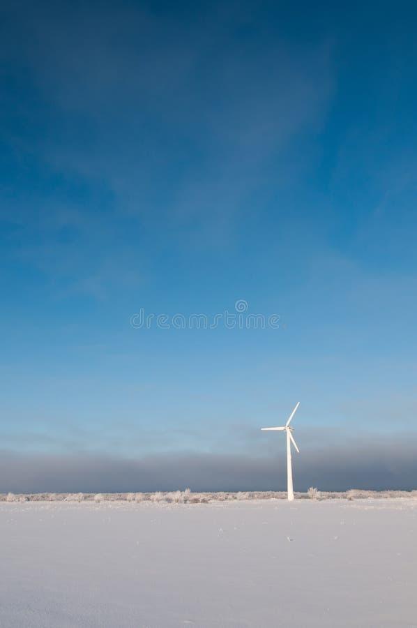 ανεμόμυλος μπλε ουραν&omicr στοκ φωτογραφία