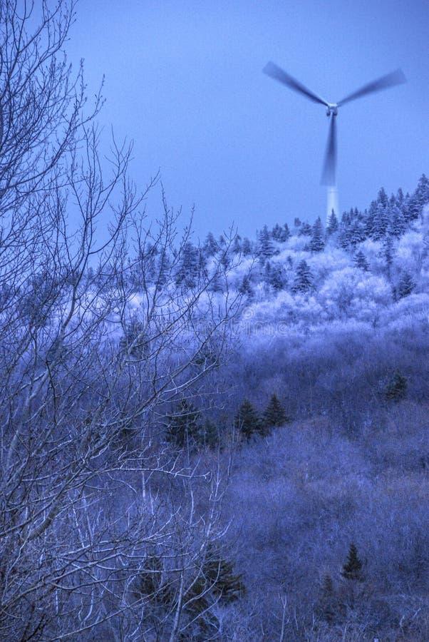Ανεμόμυλος σε μια κορυφή βουνών του Βερμόντ στοκ φωτογραφία με δικαίωμα ελεύθερης χρήσης