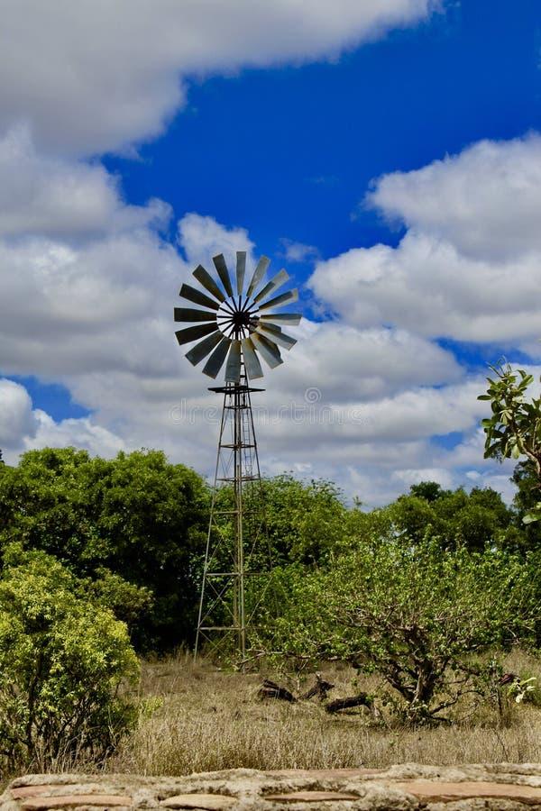 Ανεμόμυλος στο μπλε skye στοκ εικόνες με δικαίωμα ελεύθερης χρήσης