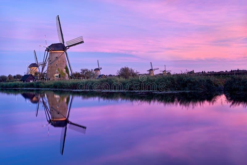 Ανεμόμυλοι σε Kinderdijk στοκ εικόνες