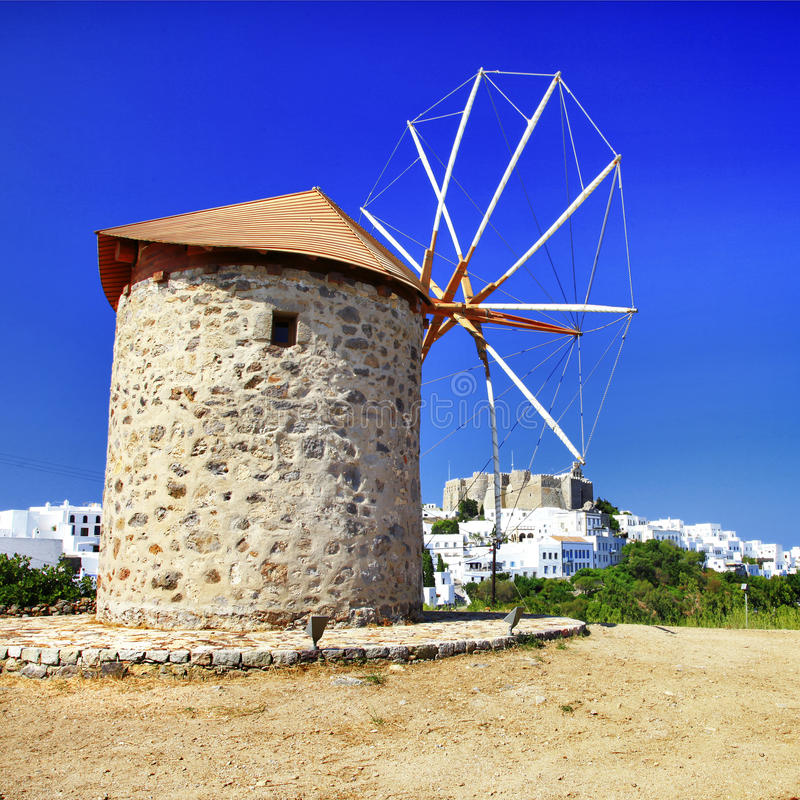 Ανεμόμυλοι της Ελλάδας στοκ φωτογραφία με δικαίωμα ελεύθερης χρήσης