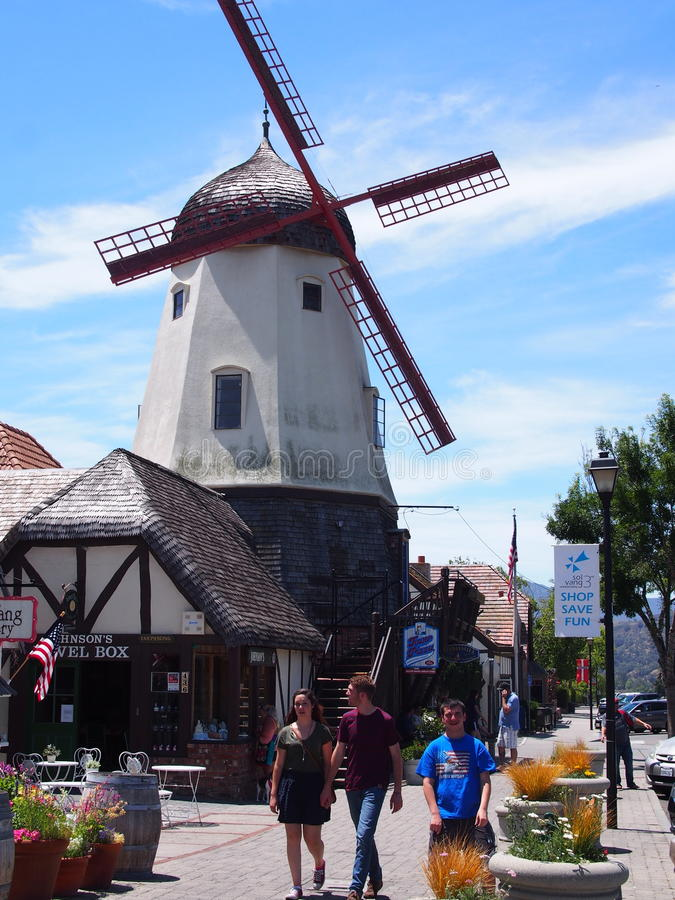 Ανεμόμυλος Καλιφόρνιας Solvang στοκ φωτογραφίες με δικαίωμα ελεύθερης χρήσης
