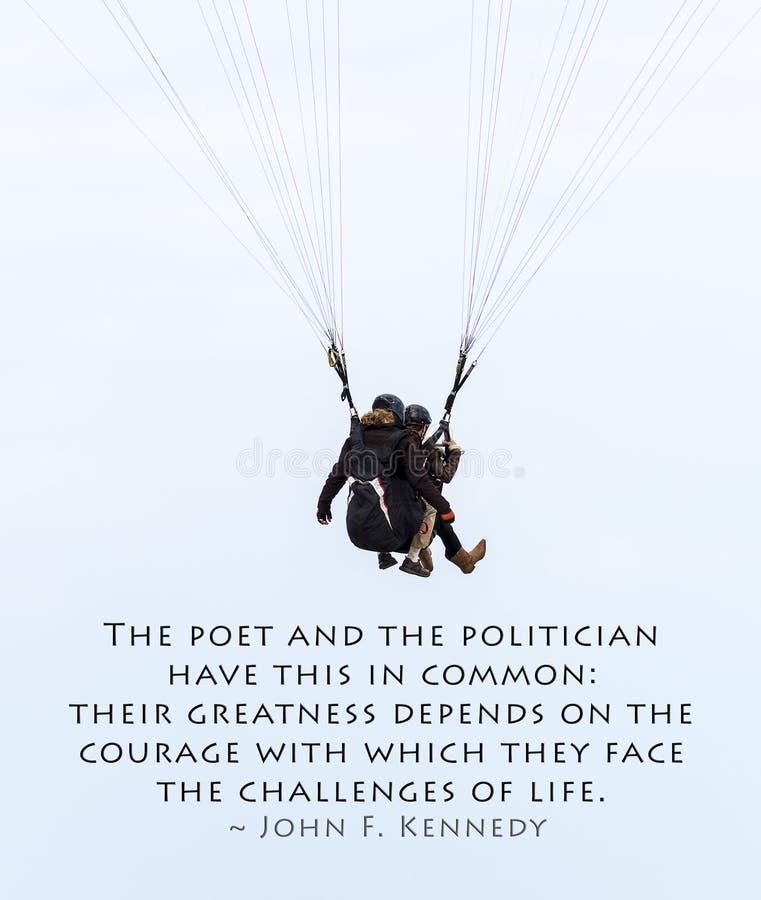 Ανεμόπτερο και απόσπασμα JFK στοκ εικόνα με δικαίωμα ελεύθερης χρήσης