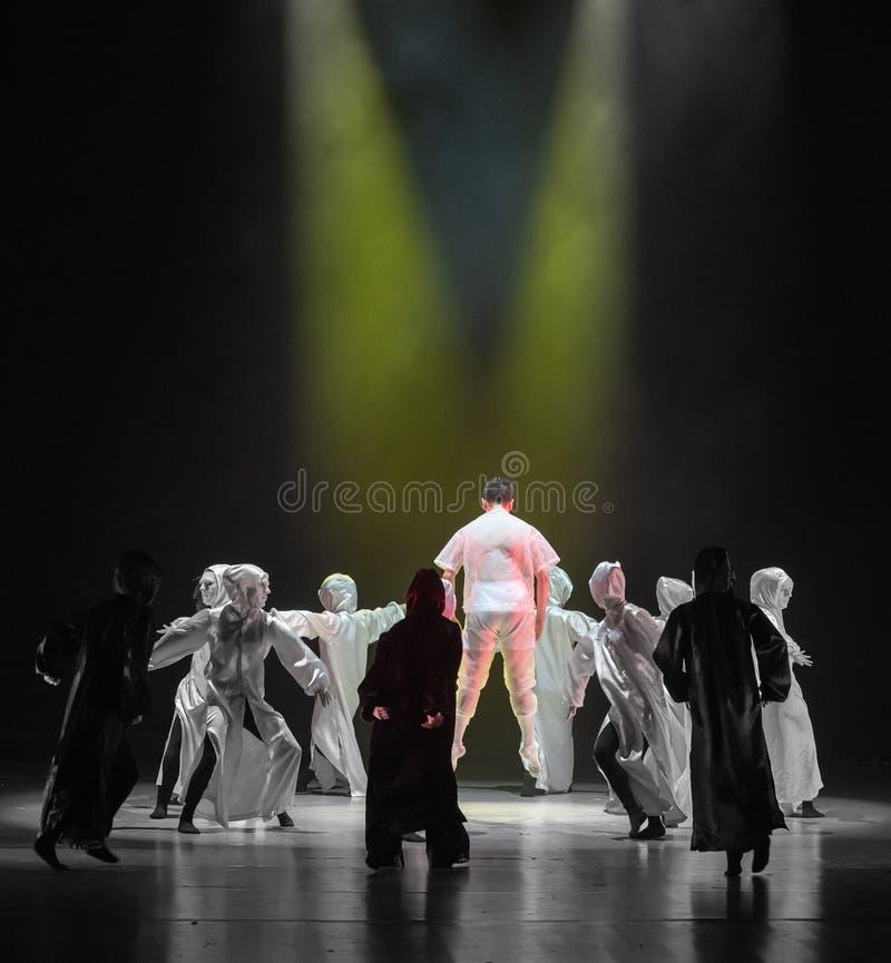 Ανεξάρτητος αξία-χορός με έναν χορό ` μάσκα-Huang Mingliang ` s κανένα καταφύγιο ` στοκ εικόνες