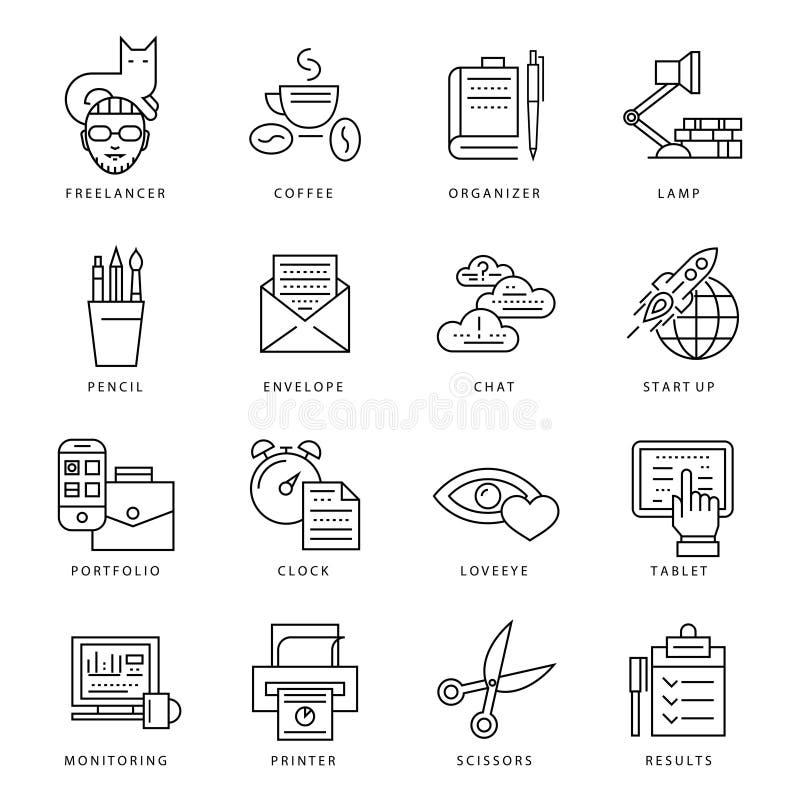 Ανεξάρτητο μονοχρωματικό σύνολο εικονιδίων ελεύθερη απεικόνιση δικαιώματος