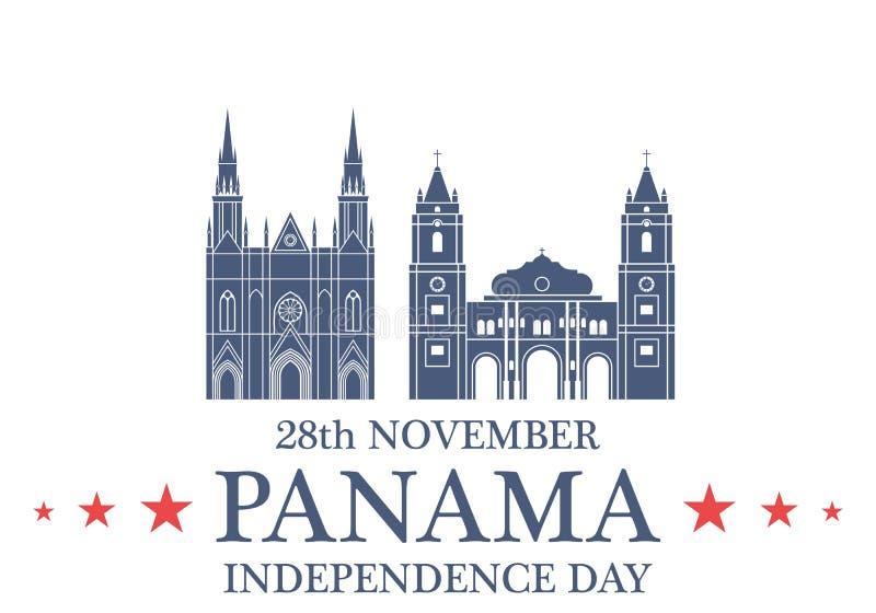 ανεξαρτησία ημέρας ανασκόπησης grunge αναδρομική Παναμάς ελεύθερη απεικόνιση δικαιώματος