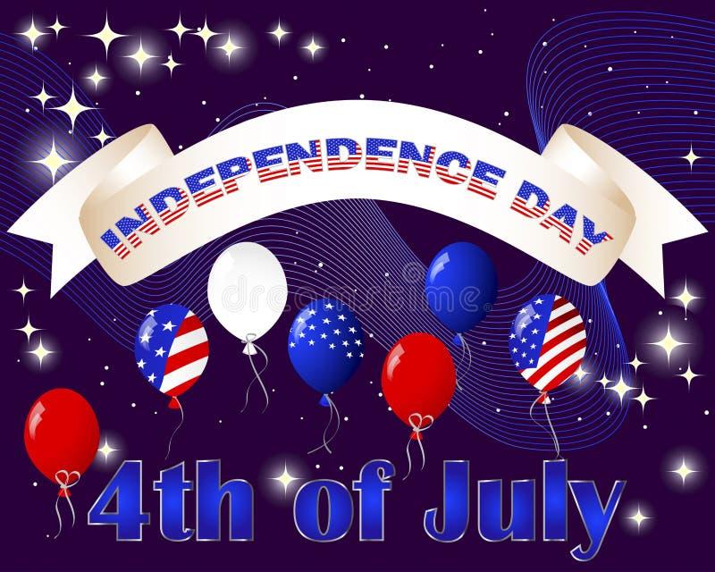 ανεξαρτησία ημέρας καρτών διανυσματική απεικόνιση