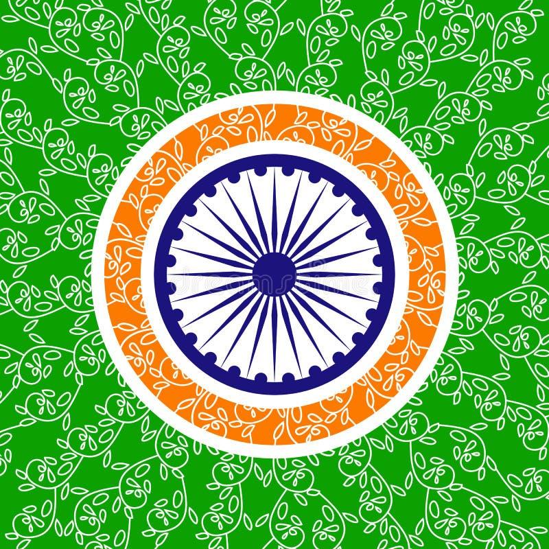 Ανεξαρτησία δημοκρατιών της Ινδίας διανυσματική απεικόνιση