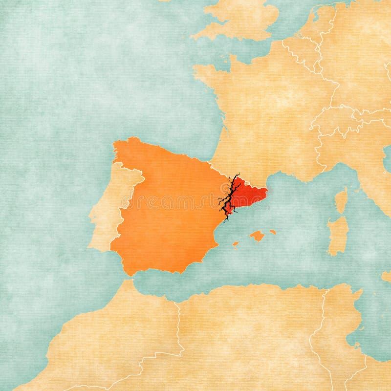 Ανεξαρτησία της Καταλωνίας ελεύθερη απεικόνιση δικαιώματος
