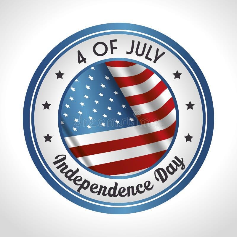 Ανεξαρτησία του σχεδίου της Αμερικής απεικόνιση αποθεμάτων
