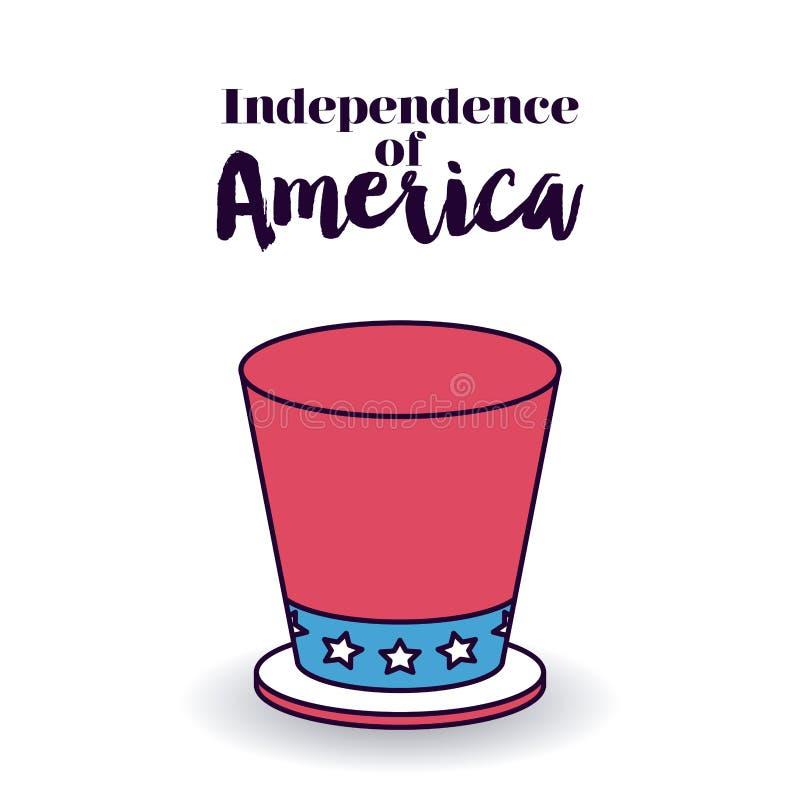 Ανεξαρτησία του σχεδίου της Αμερικής ελεύθερη απεικόνιση δικαιώματος